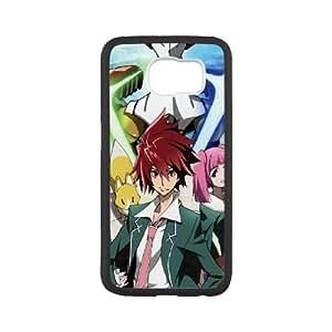 Anime Crowd Star Racer Brilliant Takuto Posture Tie funda Samsung Galaxy S6 caja funda del teléfono celular del teléfono celular negro cubierta de la caja funda EEEXLKNBC30788
