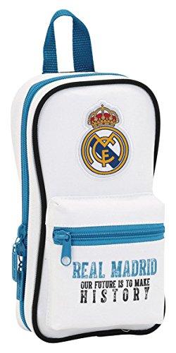 Real Madrid- Plumier Forma de Mochila con 4 portatodos (SAFTA 411754847)