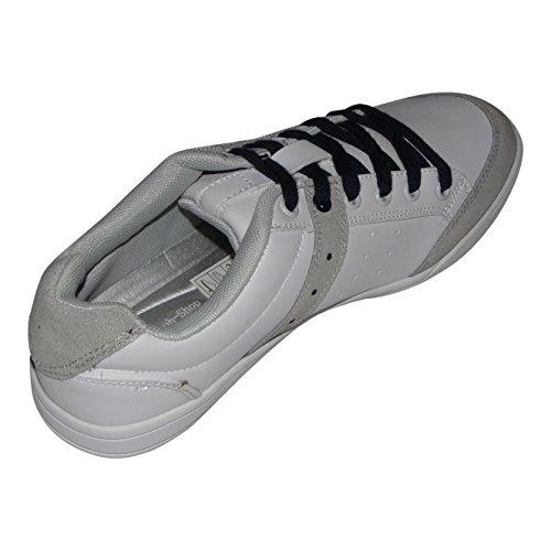 Svens-Schuh-Shop | Damen | Herren | Schnürschuh | Weiß-Grau (40)