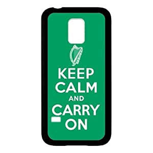 Generic Custom Extraordinary Best Design Keep Calm and Carry on Plastic and TPU Cover case for SamsungGalaxyS5 mini(Laser Technology)