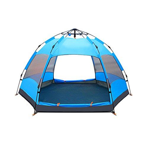 ステンレス大陸物理テント、自動ヘキサゴン厚い防雨フィールド屋外キャンプ