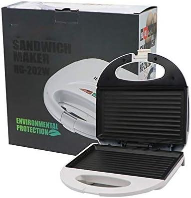 YXMG Petit déjeuner Sandwich Grille-Pain avec Easy Clean revêtement Anti-adhésif Plaques antidérapants Pieds en Caoutchouc et prêt Indicateur léger et Compact