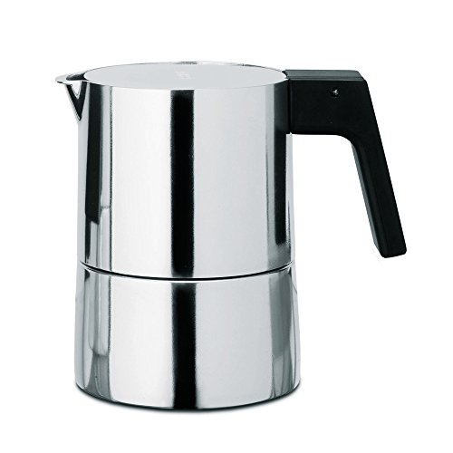 Alessi PL01/3 Pina Espr.Coffee Maker 3Cps 3 Piece Espresso Coffee Cups, Silver by Alessi