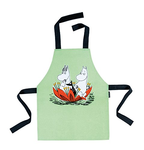 PJP Child's Moomin Apron - Waterlily on Green