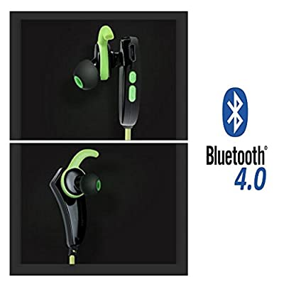 Bluetooth Earbuds: Wireless Stereo 4.0 Connectivity Headphones Headset Slim Sports Running Exercise Earphones Microphone & Rechargeable Battery for iPhone 6 5 Ipod Samsung Galaxy All Bluetooth Devices