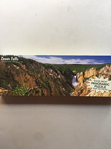 Lower Falls Yellowstone National Park (Lower Falls Yellowstone National Park Panoramic Jig Saw Puzzle)