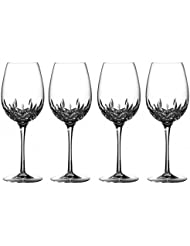 Waterford Crystal Lismore Essence Red Wine Goblet Glasses GOB, 4 Piece Set, 19 Oz. 142823