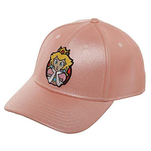 Bioworld Super Mario Princess Peach Glitter Adjustable Snapback Cap Hat