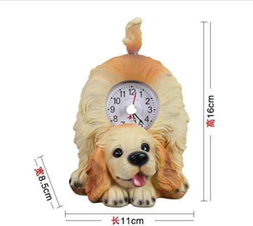 BeesClover The Fun Will Wag The Tail of The cat Clock Cute cat Desktop Clock Decoration Cute Dog Mini Desktop Clock Dog 3