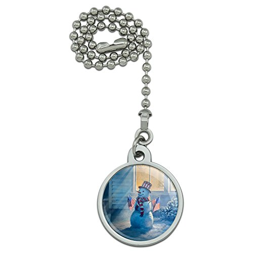 - GRAPHICS & MORE Patriotic Snowman American Flag Christmas Ceiling Fan and Light Pull Chain