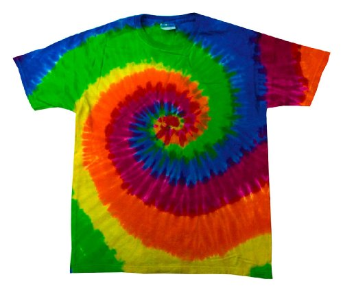 Tie-Dye Youth 5.4 oz., 100% Cotton Tie-Dyed T-Shirt, XS, MOONDANCE Moondance Collection