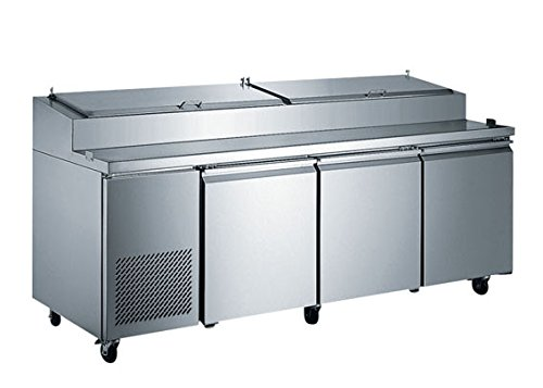 EQ Kitchen Line PICL3 3 Door Pizza Prep Table Refrigerator, 181 gal , 42.87