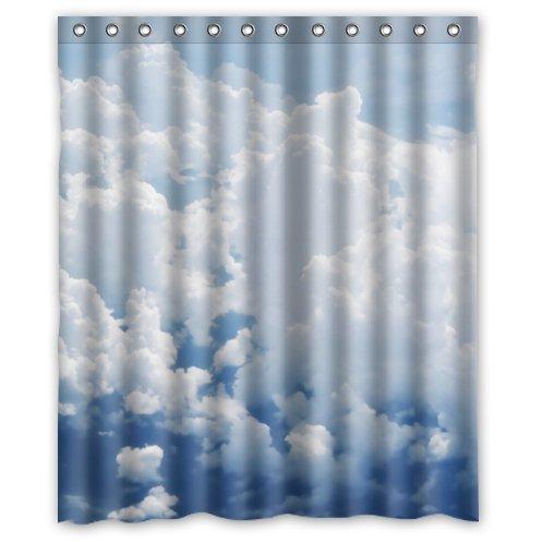 Supreme-Store Custom White Cloud Waterproof Polyester Shower Curtain 60