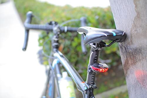 Easy Install Bike Light Deceleration Flash Water Resistant IPX3 BikeSpark Motion Sensing Bike Tail Light Bright LED Bicycle Rear Light with 220 Degrees Visibility