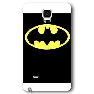 UniqueBox - Customized Personalized White Frosted Samsung Galaxy Note 4 Case, The Joker, Batman Logo, Batman Samsung Note 4 case, Only fit Samsung Galaxy Note 4