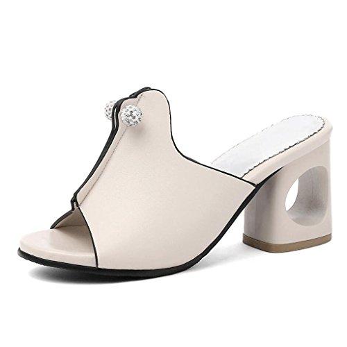 11459f91 Delicado GAOLIXIA PU de las mujeres Bombas de punta abierta Sandalias de tacones  altos de moda
