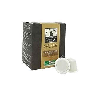 100 capsule caffè biologico compatibili Nespresso compostabili biodegradabili miscela Blend - Intensità 9