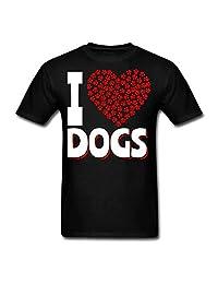 Hocoo Infant Boys Girls Fashion Tee I Love Dogs T-Shirt 6M-24M