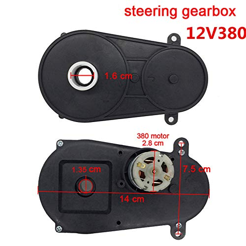 WEELYE RS380 12V Steering Motor for Remote Control Car , Children Electric Car Steering Gearbox with Motor, Toy Car Steering Gear Box with Engine Children Ride On Car Replacement Parts