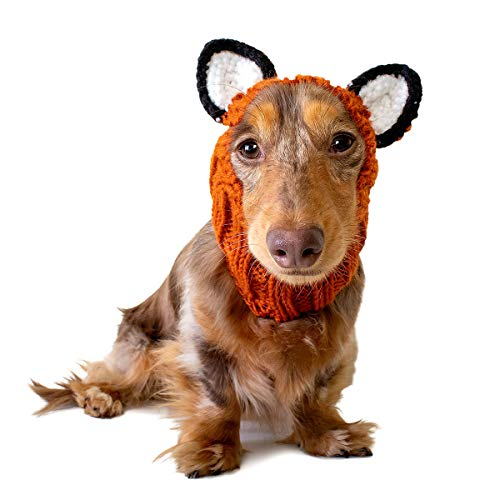 Zoo Snoods Fox Dog Costume - Neck and Ear Warmer Headband for Pets (Small) ()
