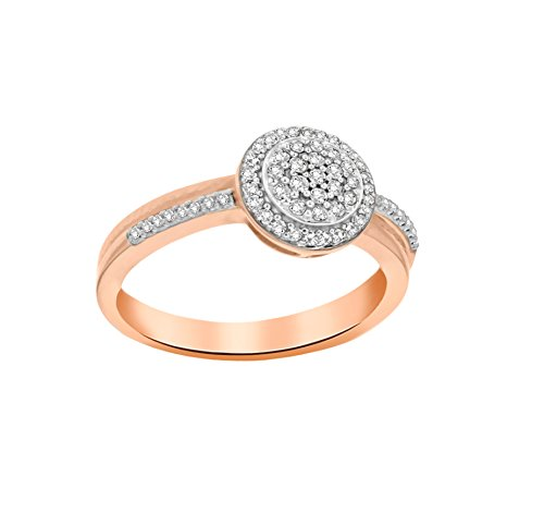 Pave Prive femme  14 carats (585/1000)  Or rose|#Gold Rond   Blanc Diamant