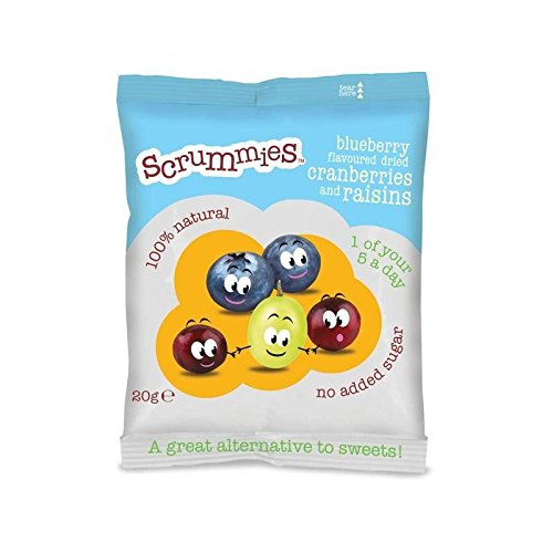 Scrummies Blueberry Flavour Cranberries & Raisins 20g by CLEARLY SCRUMPTIOUS (Image #1)