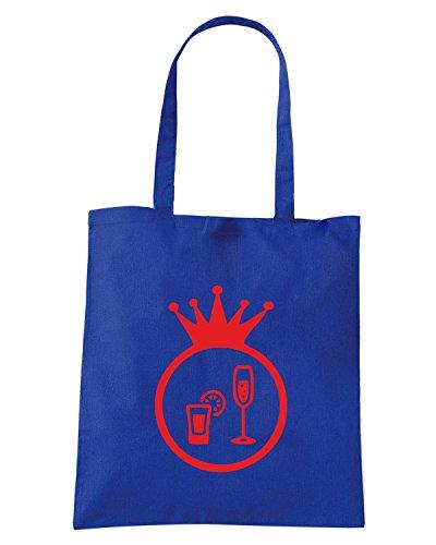 T-Shirtshock - Bolsa para la compra BEER0194 -Cocktail-Magliette (2) Azul Real