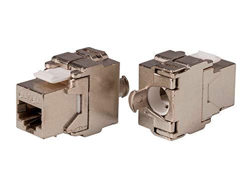 Series Shielded Y-adapter - Monoprice Cat6A RJ-45 Keystone | FTP, Toolless, 180-Degree, Die Cast, Shielded - Entegrade Series