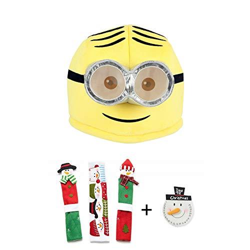 Maskimals Oversized Plush Halloween Mask - Dave and Snowman Kitchen Appliance Handle Covers & Snowman Countdown Calendar