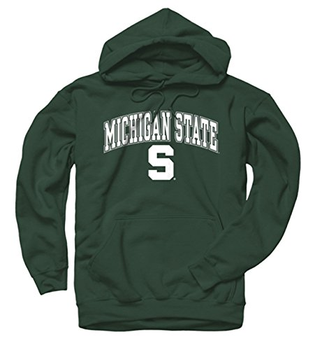 Campus Colors Michigan State Spartans Adult Midsize Logo Hooded Sweatshirt - Green, Medium
