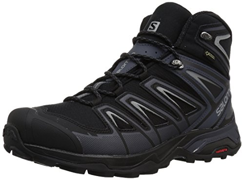 Gtx Backpacking Mid Boot (Salomon Men's X Ultra 3 Wide Mid GTX Hiking Boot, Black, 11.5 W US)