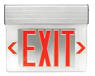 Monument 617120 Led Edge Exit Sign Light, Double Face