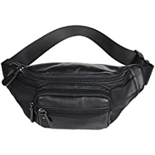 Polare Genuine Leather Fanny Pack/Waist Bag/Organizer (Classic Style)