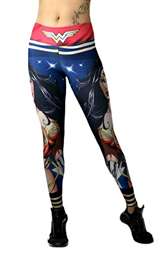 Exit 75 Superhero Leggings Yoga Pants Compression Tights ()