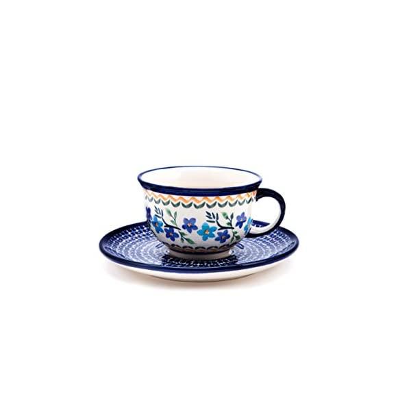 Bunzlauer Keramik 1154a Classic Coffee and Tea Cup with Saucer 0.2 Litres