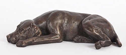 (DQ Designs German Shorthaired Pointer (Sleeping) Cold-Cast Bronze Figurine 5