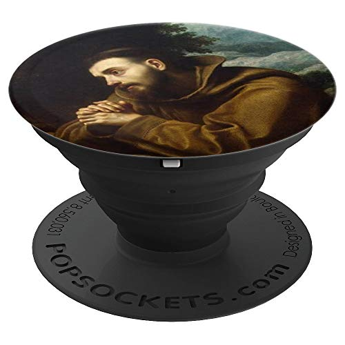 (St Francis of Assisi Catholic Saint Italian Friar Holy Icon - PopSockets Grip and Stand for Phones and Tablets)