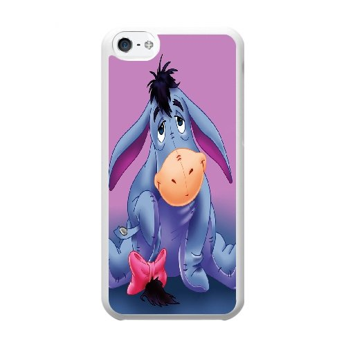 Coque,Coque iphone 5C Case Coque, Winnie The Pooh Eeyore Cover For Coque iphone 5C Cell Phone Case Cover blanc
