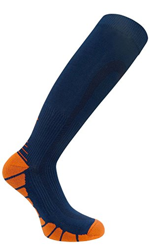 FDX Plus Size/Big & Tall Cushioned Compression Socks (Blue/Orange) (Adult Go Ped)
