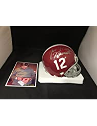 Joe Namath Signed Autographed Alabama Joe Willie Inscribed Mini Helmet GTSM Namath Player Hologram