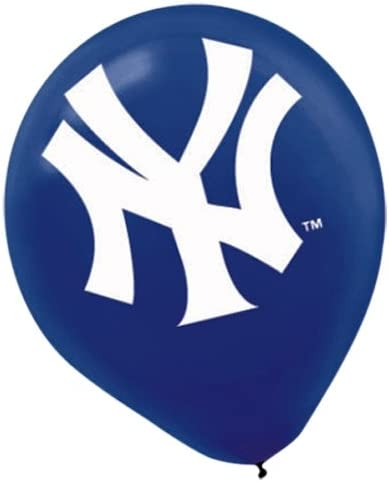New York Yankees Major League Baseball Collection Printed Latex Balloons Party Decoration