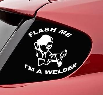 Flash Me I m un soldador divertido vinilo adhesivo para parachoques adhesivo