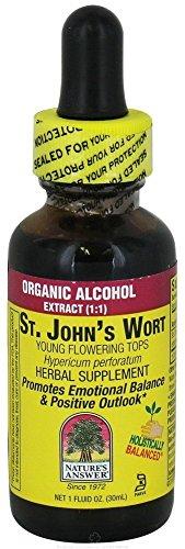 La réponse de la Nature Wort Jeune floraison de St. John Tops avec Alcool Bio, une once-Fluid