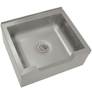 """Single Floor Mounted Mop Sink Size: 12"""" H x 33"""" W x 25"""" D"""