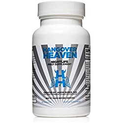 Highest Rated Hangover Prevention Supplement by Hangover Heaven | Formulated by Dr. Jason Burke - World Famous Hangover Specialist | Reduce Migraines, Nausea, Dizziness, Fatigue (42 Capsules)