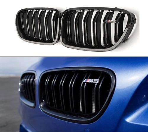 Boobo Pair 2011-2016 F10/F11 520i 535i 550i M5 4-Door Front Kidney Grille Gloss Black For BMW 5 Series M5 Grille