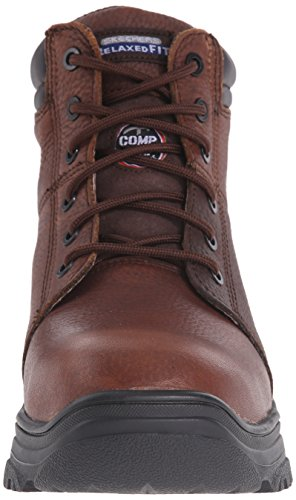 Skechers For Work Mens burgin Comp Toe Work Boot Dark Brown