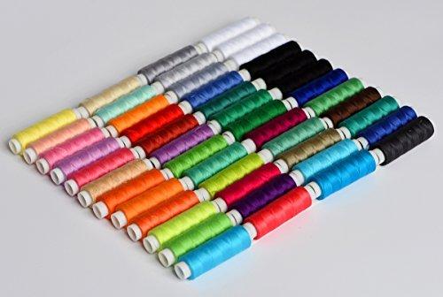 LE PAON 48color (10560Y) 100% cotton rainbow colored embroidery thread(Color 1)