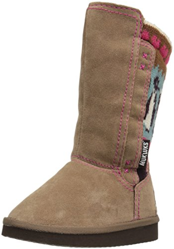 [MUK LUKS Kids' Stacy Pull-On Boot, Brown, 13 M US Little Kid] (Boys Boots Sale)