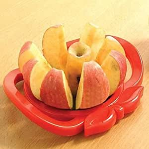 INFINITY-1201 Apple Shaped Easy Fruit Slicer Cutter Tool (Random Colors)